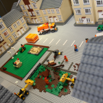 LEGO model housing estate