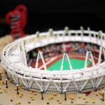 LEGO Olympic Stadium model
